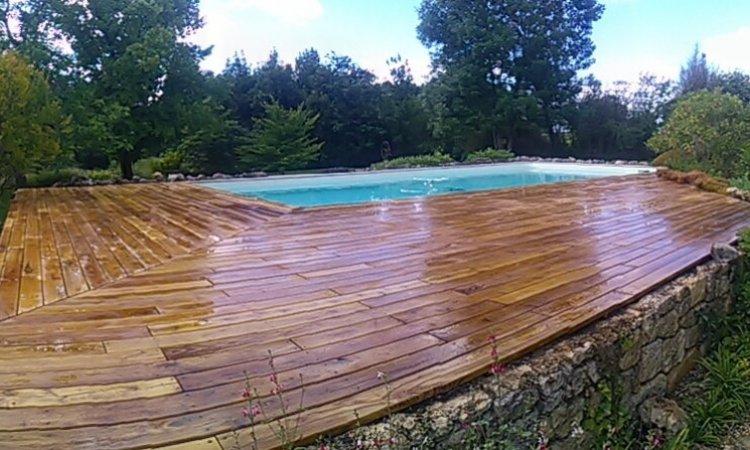 Terrasse en bois à Albi